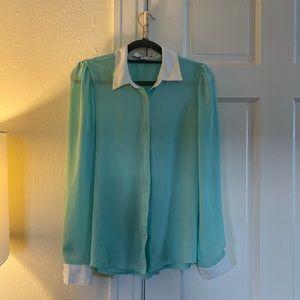 Beautiful Light Blue/Green Blouse